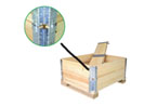 Solid wood pallet collars